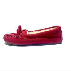 Cabela's Women's Red Suede Moccasin Slippers